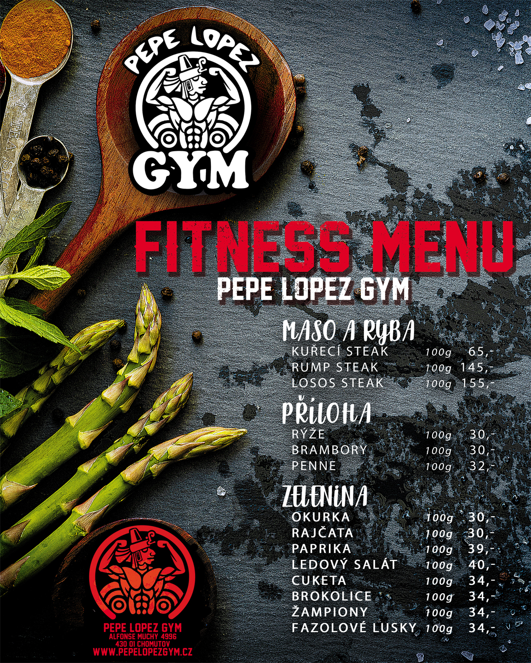 Do 27.11.2020 - FITNESS MENU